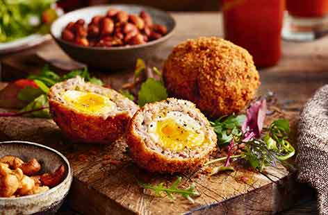 Maple bacon Scotch eggs