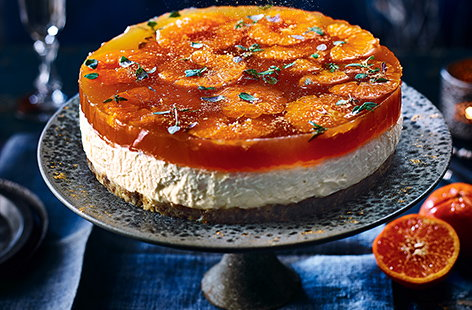 Mulled white wine cheesecake