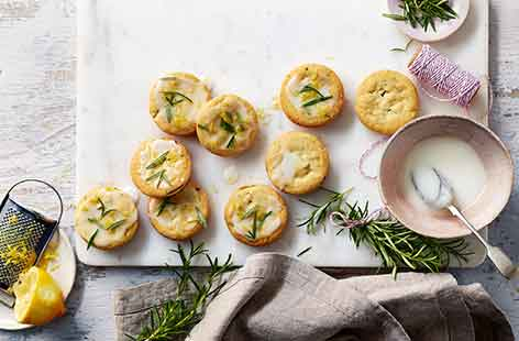 Put a twist on classic buttery shortbread with fragrant rosemary and a drizzle of lemon icing for an elegant afternoon tea treat. Using self-raising flour creates a softer shortbread for delicious crumbly results.