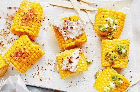 Everyone has a favourite corn topping so this pick 'n' mix option solves all your problems. With chilli cheese mayo, jalapeno butter or a sweet coconut sugar, this satisfying snack is perfect for feeding a crowd.