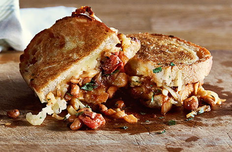 Boston bean Cheddar cheese toastie