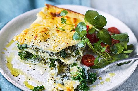 A vegetarian lasagne packed with greens is a brilliant option for vegetarians and meat eaters, and since this one can be made ahead and frozen, it's ideal for busy weeknights.