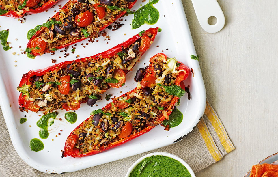 Stuffed peppers recipe vegetarian recipes tesco real food remove forumfinder Gallery