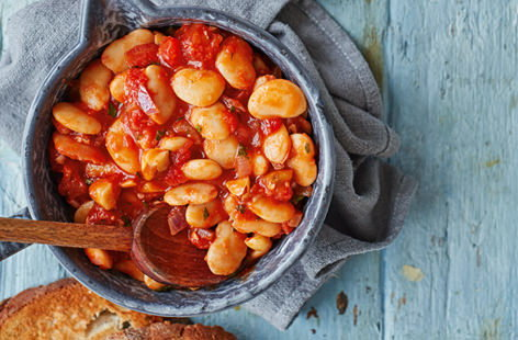 Loaded with rich spices, fragrant herbs and a spoonful of maple syrup, these are not your average baked beans. Serve with Brazil nuts and toasted sourdough for a sophisticated take on a comfort food classic