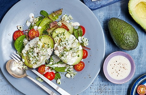 Avocado is wonderfully nutritious and tastes delicious too. By stuffing with sweet crab meat, lime and coriander and drizzling with a creamy, fiery buttermilk dressing you get a tasty lunch idea that's ready in just 10 minutes
