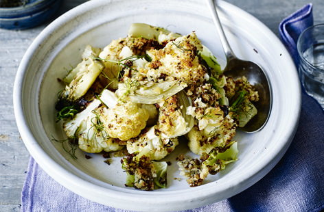 Cauliflower and fennel bake