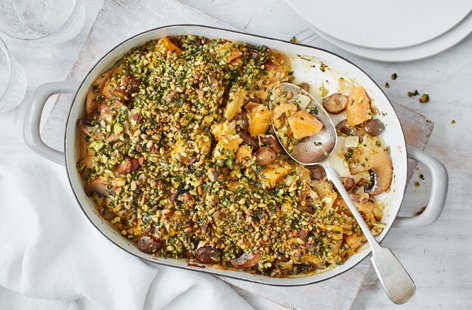 Gluten-free squash and chestnut bake