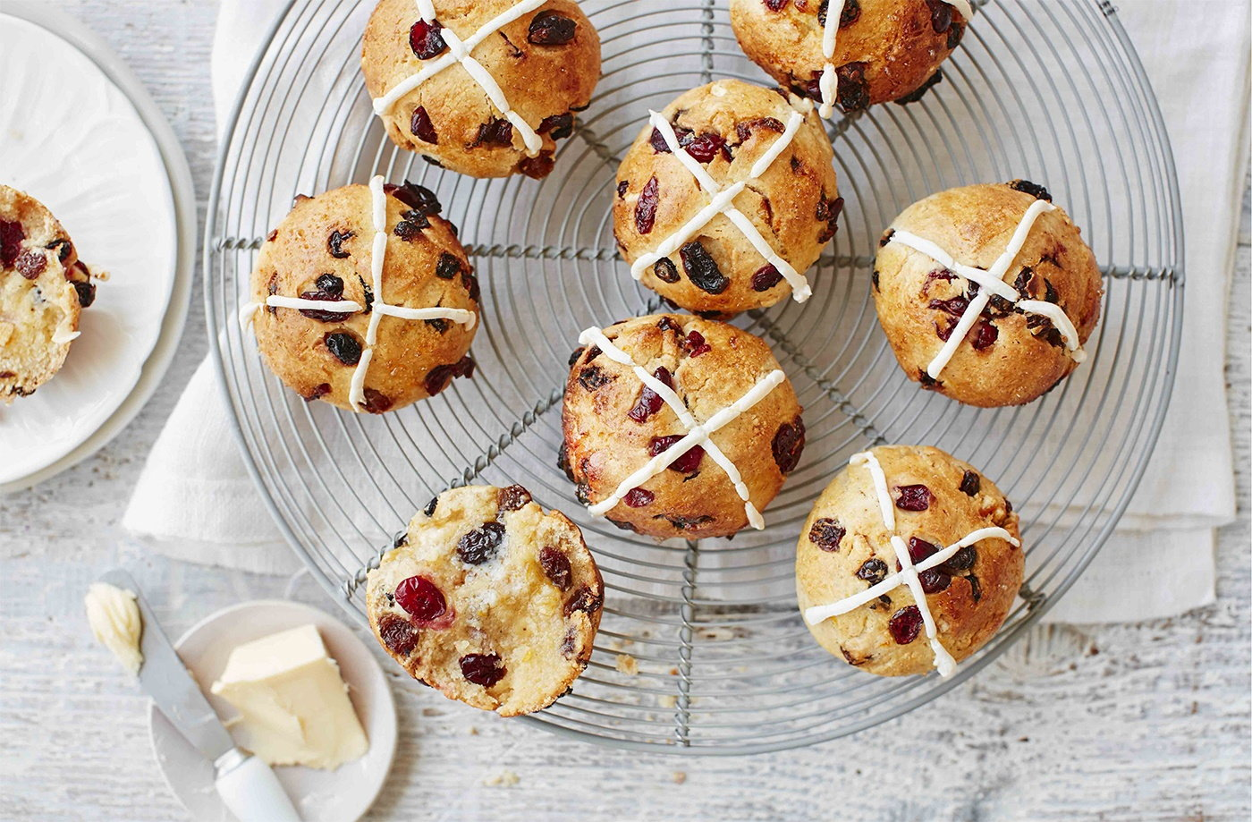 A traditional Easter treat, these easy gluten-free hot cross buns can be made in under an hour and make a delicious treat to share with the whole family