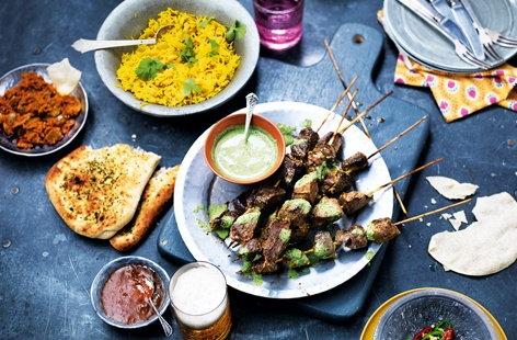 This Indian-inspired lamb recipe is the perfect dish to serve as part of a hearty weekend feast. With a garlic and lemon marinade and refreshing coriander and mint sauce with green chilli heat, it's a warming and delicious Indian recipe