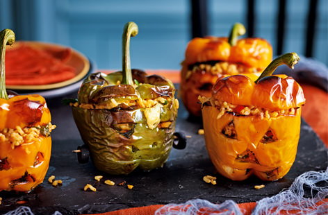 Scary stuffed peppers