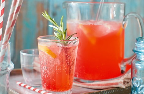 Ginger pink lemonade