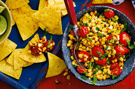 Load up corn chips with a generous helping of this Mexican inspired sweet and fiery salsa for a deliciously flavoursome snack.