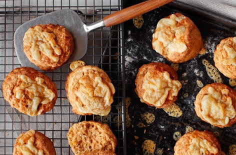 The rich flavours of Red Leicester cheese and salty Marmite are a match made in heaven in these delicious scones