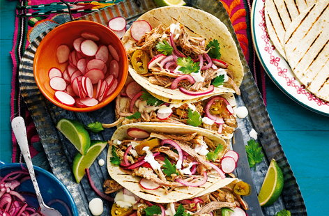Braised pork tacos