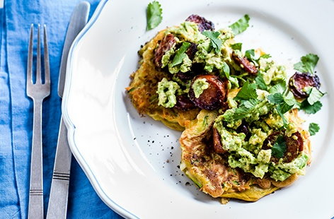 This savoury pancake recipe uses shredded leeks, carrots and grated courgette to make tasty pancakes that are all the more delicious when topped with crisp chorizo, smashed avocado and a drizzle of lime juice