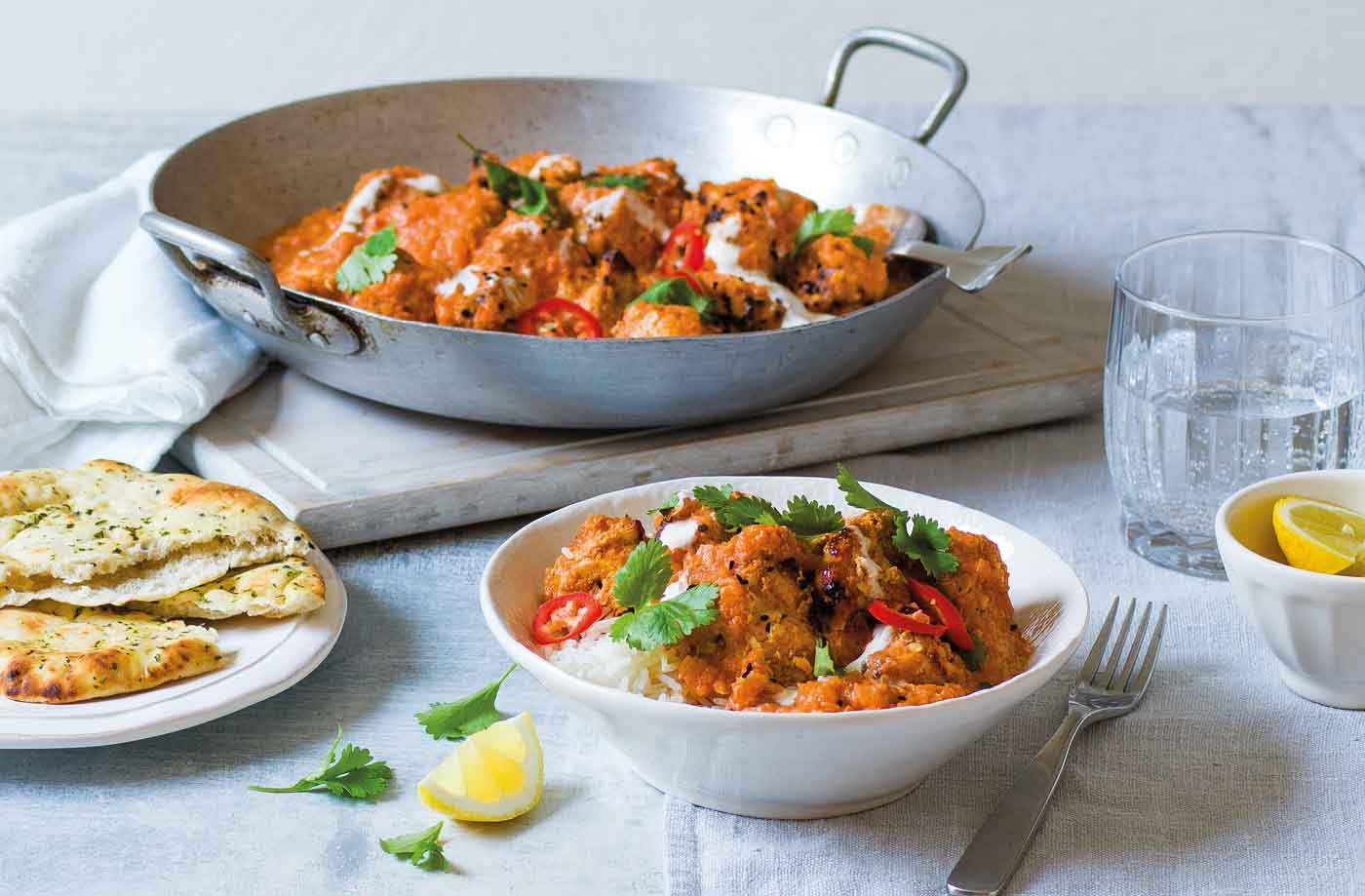 Traditional chicken tikka masala