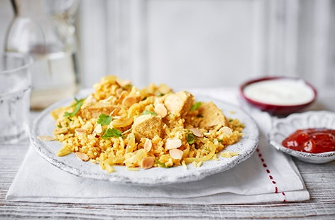 Nothing beats a classic turkey curry and this fragrant biryani is an inventive and delicious way of using up any turkey leftovers
