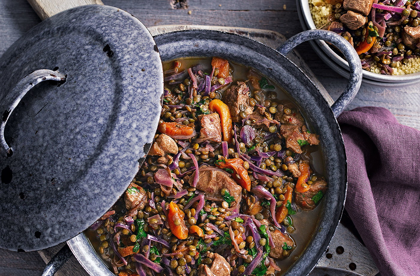 Moroccan lamb and lentil stew recipe
