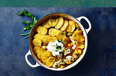 Herby chicken and potato bake