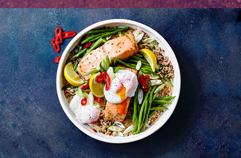 This modern British dish is great feel-good food, perfect for that healthy, post-gym refuel or for a midweek meal that makes you feel like you're really looking after yourself
