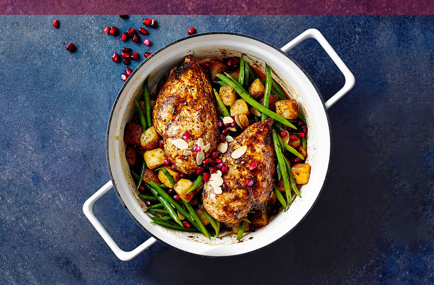 Middle Eastern-inspired chicken with green beans recipe