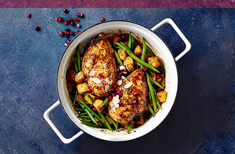 Middle Eastern-inspired chicken with green beans