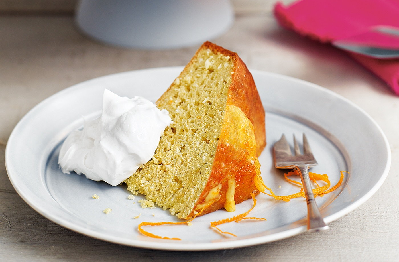 Orange and honey coconut cake with coconut cream recipe