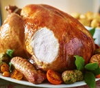 Roast turkey with citrus butter