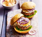 Pork and pineapple burgers