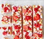 Very berry white chocolate rocky road