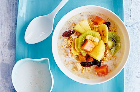With its combination of nuts, oats and fruit, this tasty breakfast will keep you energised until lunchtime