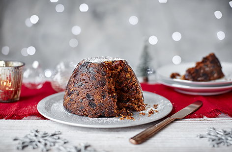 This rich and fruity Christmas pudding tastes just as rich and indulgent as the original, yet it's completely dairy- and egg-free, so suitable for vegans