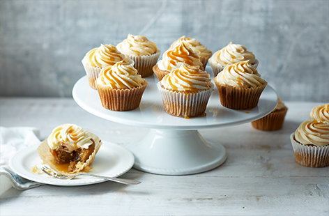 Fluffy icing, tender sponge and a hidden centre of oozing caramel, this vegan salted caramel cupcakes recipe has it all