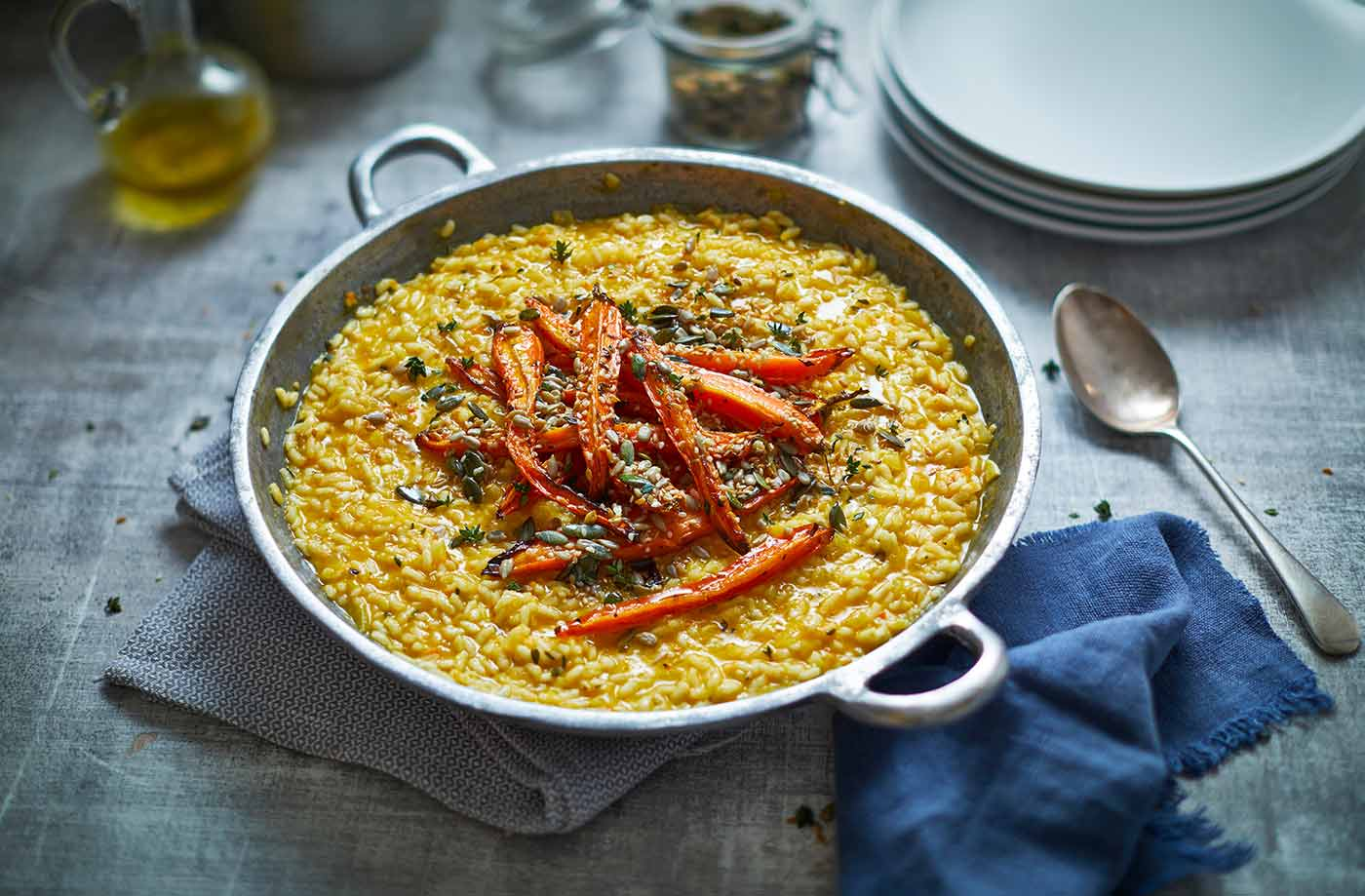Vegan roasted carrot risotto recipe