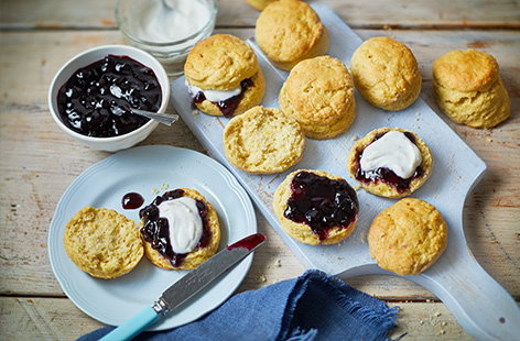 A classic, crumbly scone is the pinnacle of afternoon tea, and this vegan scone recipe means that everyone can still enjoy them. Flavoured with a hint of lemon and served with a generous dollop of coconut cream, just add your favourite fruit or jam for the