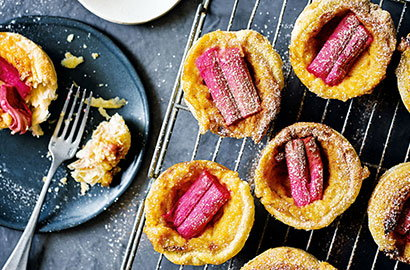 Celebrate pretty pink rhubarb with these colourful recipes