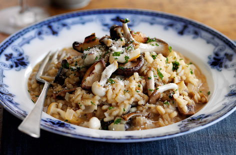 Mushroom and Parmesan risotto  recipe