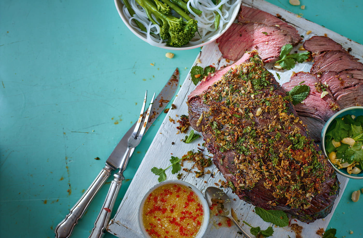 Vietnamese beef with chilli and lime dressing recipe