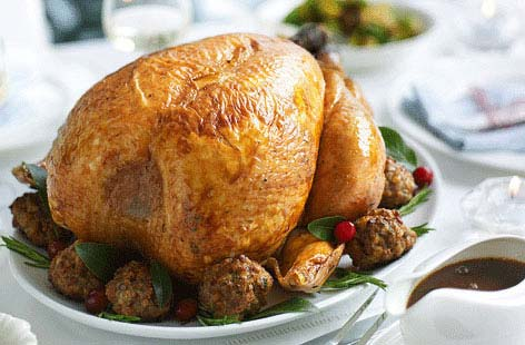 Classic Christmas roast turkey