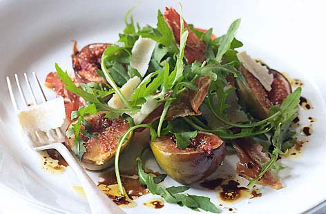 Roasted Figs with Crisp Parma Ham Rocket and Parmesan hero 2f65abf6 ...