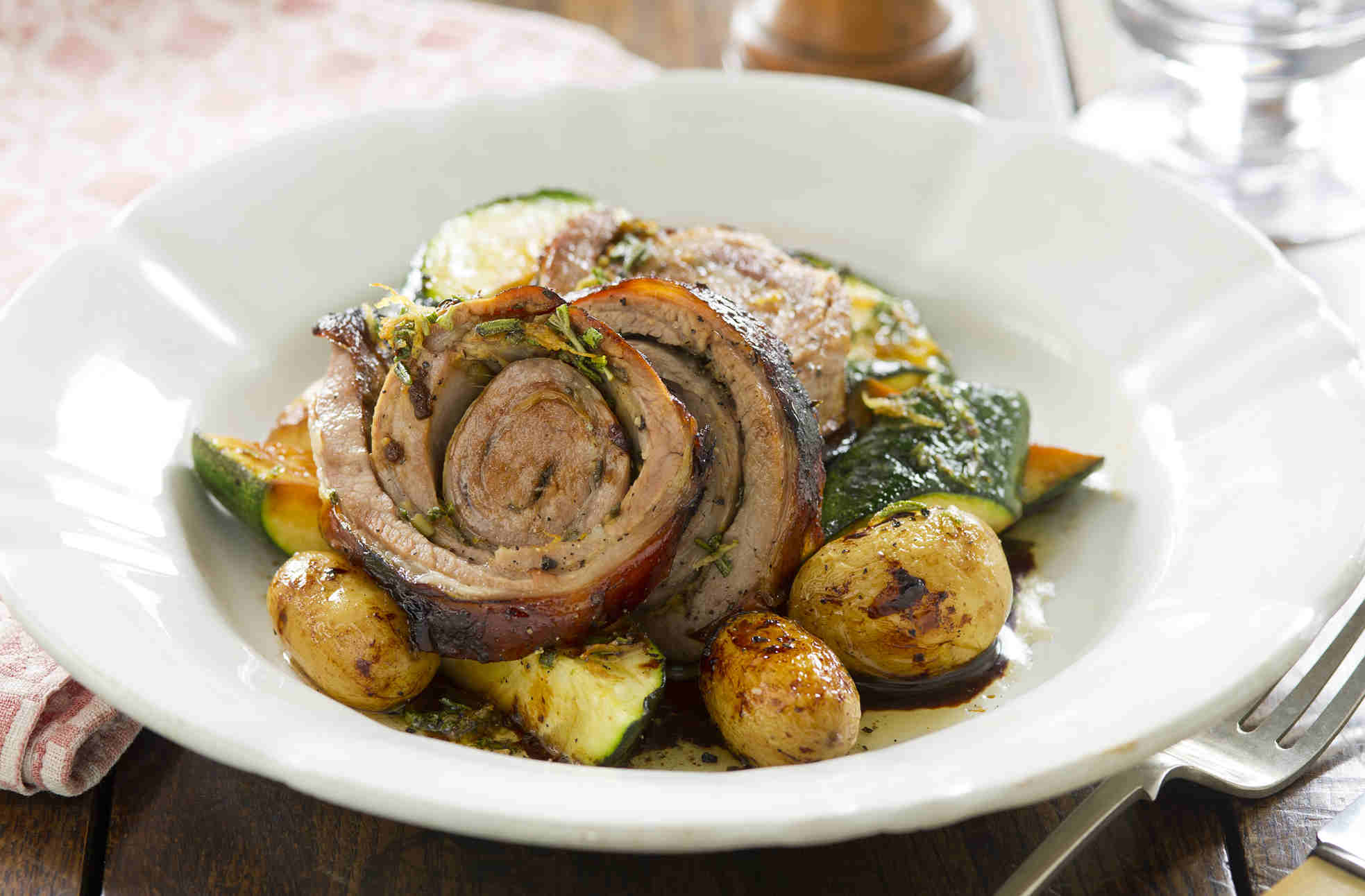 Roasted breast of lamb