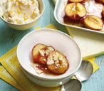 Roasted nectarines with mascarpone