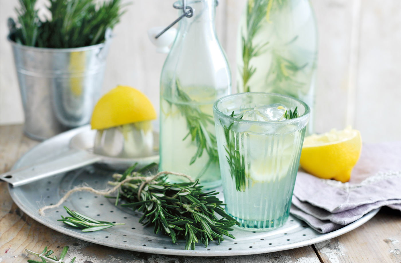 Rosemary-infused lemonade recipe