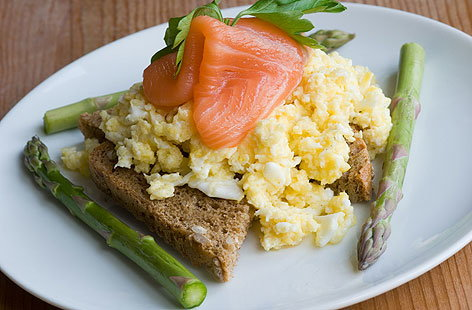 SCRAMBLED EGG WITH SMOKED SALMONHERO