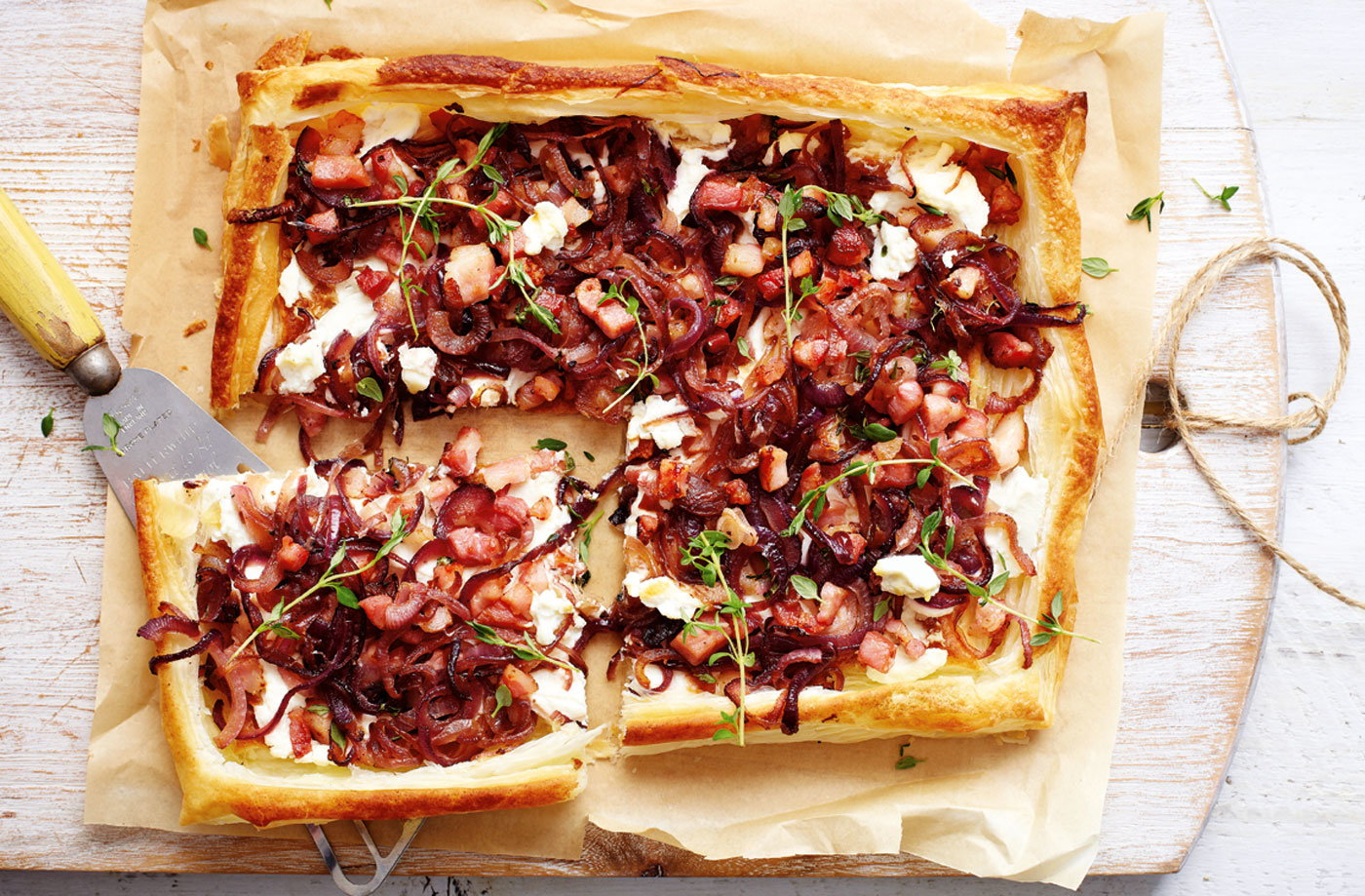 Ricotta, bacon and red onion tart recipe