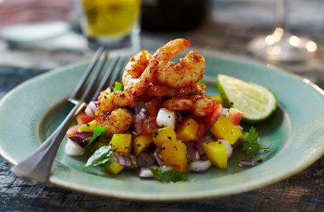 Grilled prawns with lime and smoked paprika | Tesco Real Food