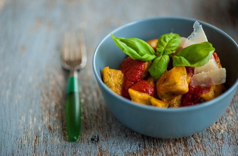 Shaun Rankin's sweet potato gnocchi with tomato sauce