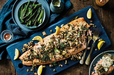 For an alternative Christmas main that's super special, try this delicious side of salmon recipe