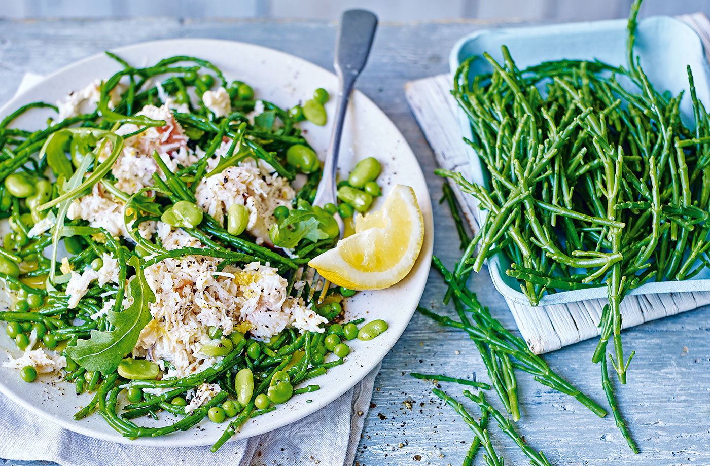 Samphire and crab salad