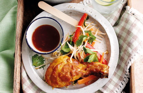 Satay chicken with Asian salad HERO